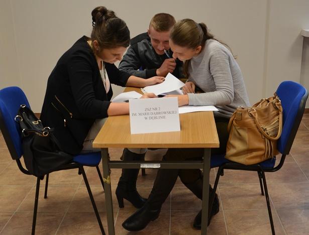 konkurs wiedzy o lotnictwie -uczniowie ZSZnr2 w Dęblinie