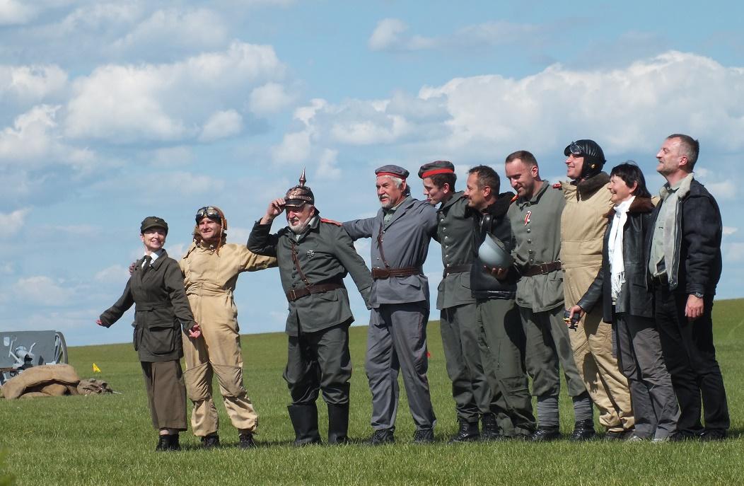 Grupa rekonstrukcji lotniczej Pterodactyl Flight po występie