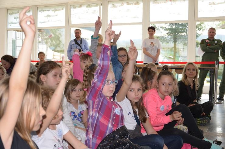 Piloci czytają dzieciom Muzeum SIł Powietrznych w Dęblinie - pytania