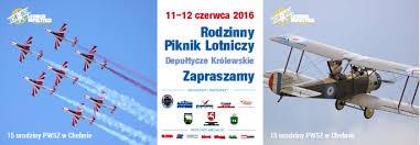 plakat Rodzinny Piknik Lotniczy Depułtycze Królewskie 11-12.06.2016