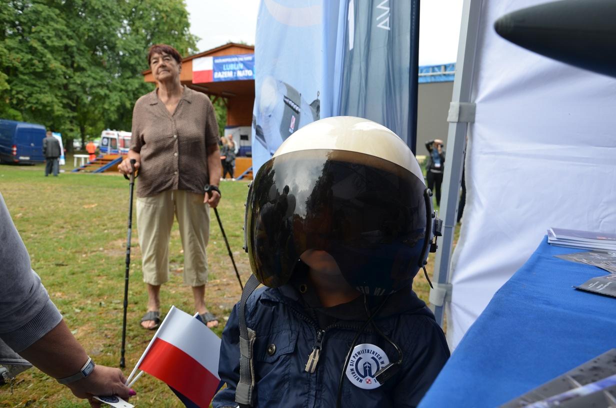 Piknik rodzinny Lublin 09.07.2016 stoisko MSP - mały lotnik