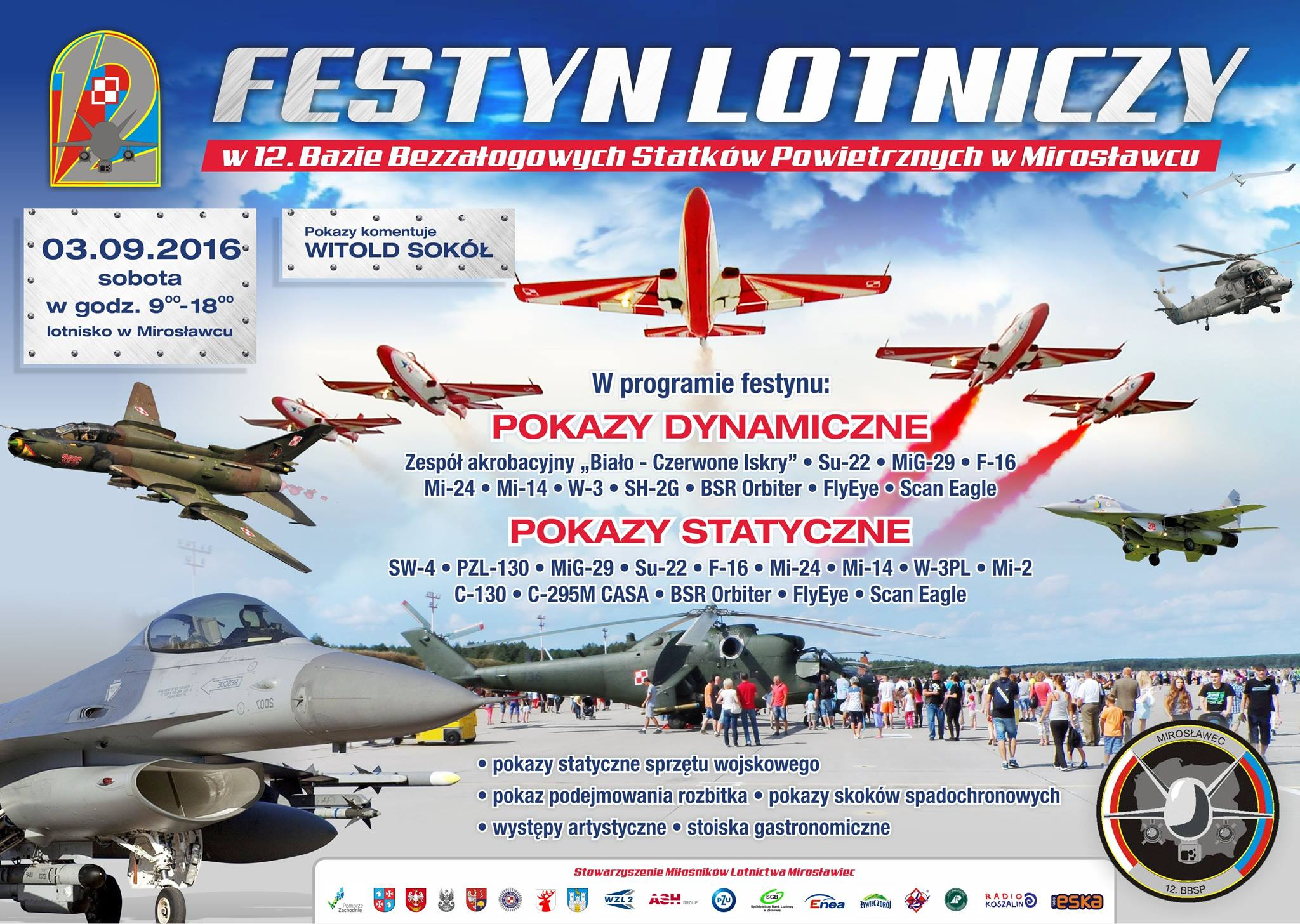 Festyn 12 BBSP Mirosławiec - plakat
