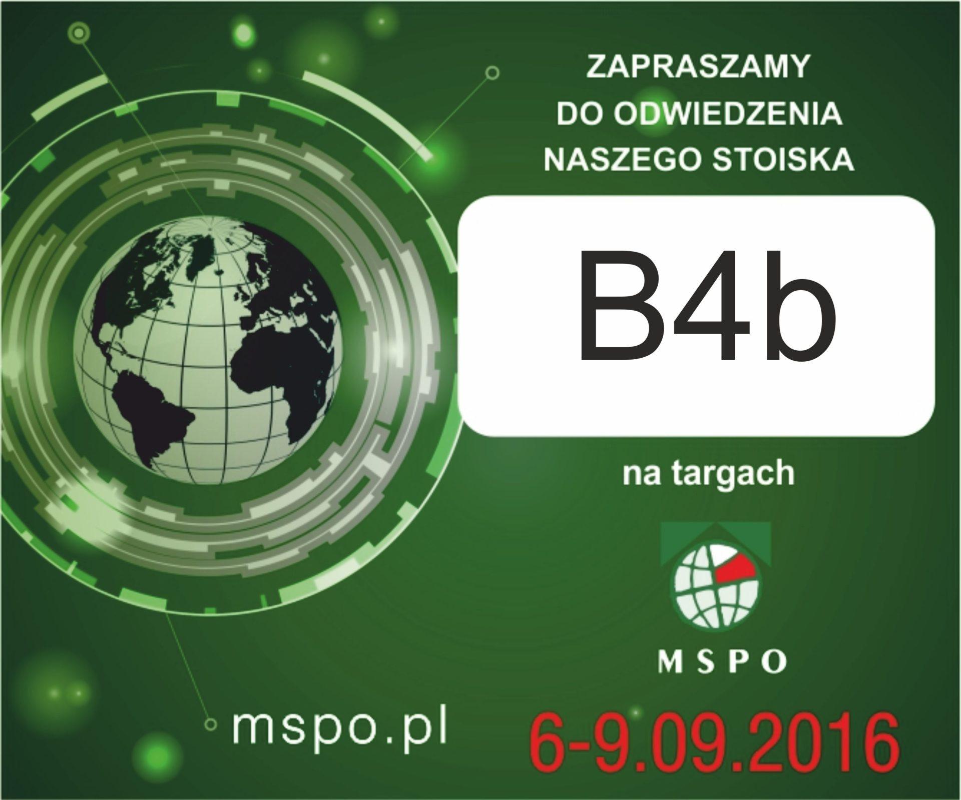 Zaproszenie na MSPO Kielce 2016