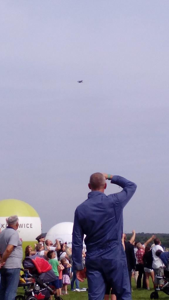 Śląski Air Show Muchowiec 2016 - przelot F-16