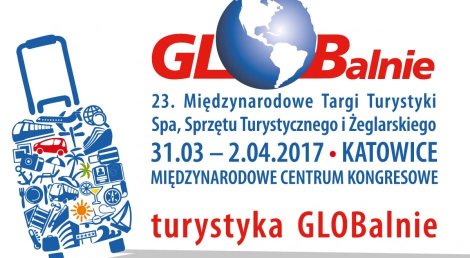 Grafika reklamowa 23 Międzynarodowych Targów Turystycznych Globalnie w Katowicach