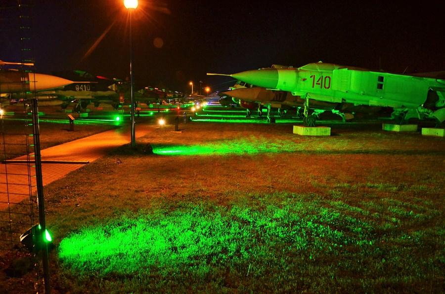 Europejska Noc Muzeów w Muzeum Sił Powietrznych w Dęblinie (6) - iluminacja